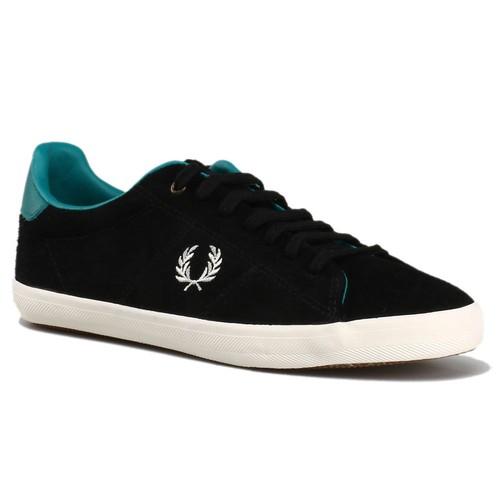 Fred Perry B4197w F102 Siyah Kadın Süet Deri Sneaker
