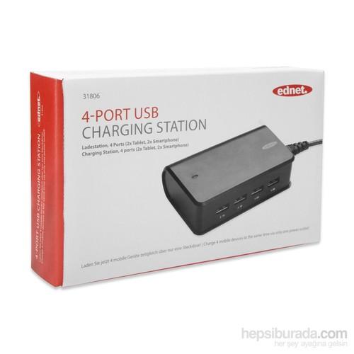 Ednet 4-Port USB Charging Station (ED-31806)