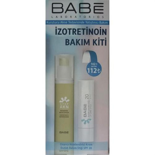 Babe İzotretinoin Bakım Kiti - Repairing Moisturiser ve Lip Care Stick Seti