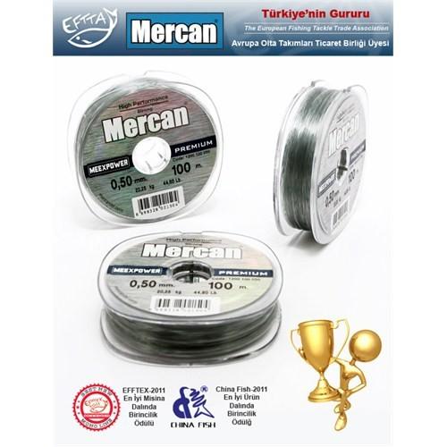 Mercan Meexpower Premium Misina, Gümüş Gri, 100mt