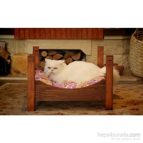 Mandu Ahşap Kedi Yatağı