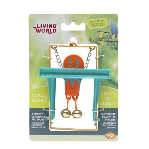Living World Maymunlu Kuş Oyuncağı (Turuncu)