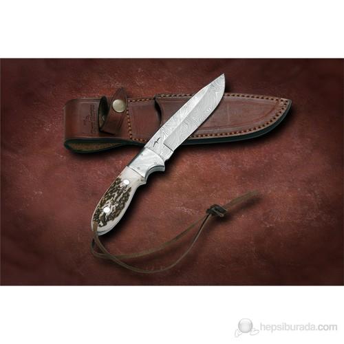 Bora M 606 Damascus Çelik Boynuz Saplı Bıçak