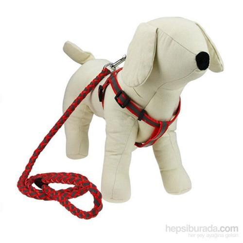 Pet Zoom Köpek Göğüs Tasması 1 - Kırmızı fd
