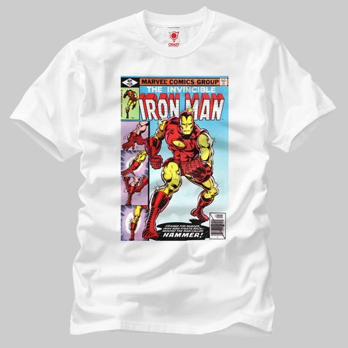 Iron Man Invincible Cover Erkek Tişört