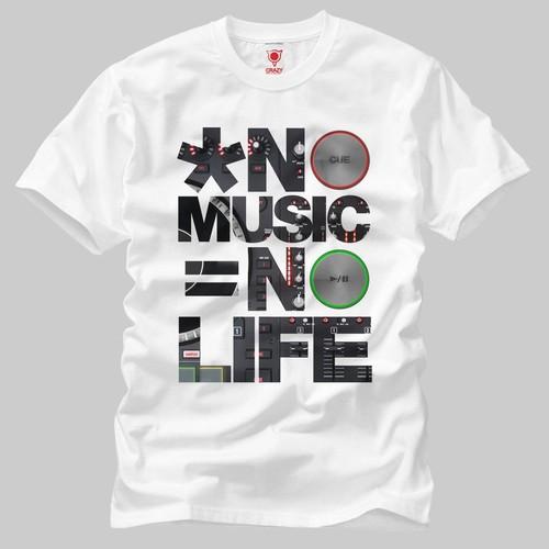 No Music No Life Erkek Tişört