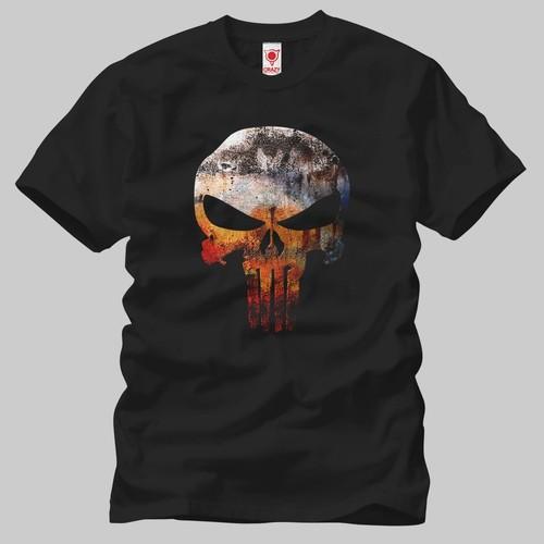 Punisher Grunge Erkek Tişört