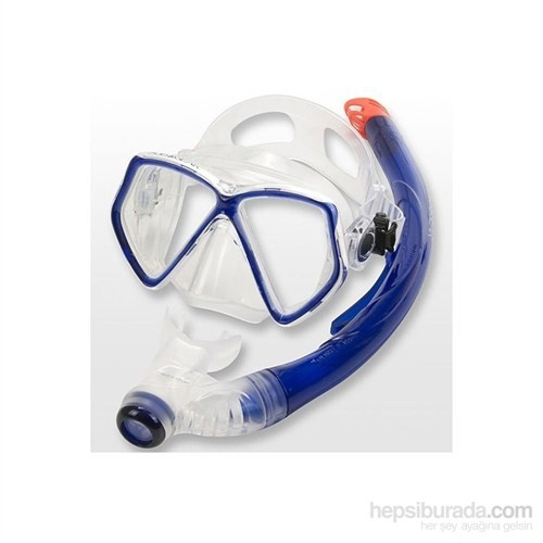 Maske Şnorkel Pantaı Combo Set Mavi