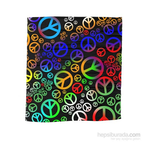 Köstebek Lgbt - Peace Rainbow Bandana