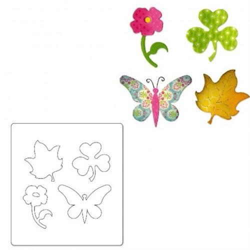 Sizzix Kelebek Çiçek Yaprak Yonca Kalıbı - 1A10600