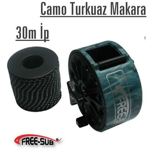 Free-Sub Camo Kahve Makara + 30Mt İp