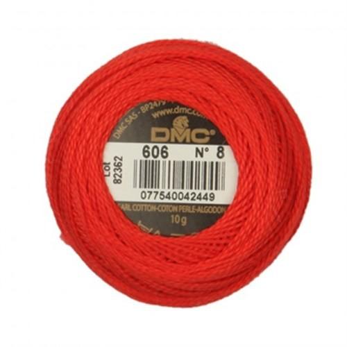 Dmc Koton Perle Yumak 10 Gr Kırmızı No:8 - 606