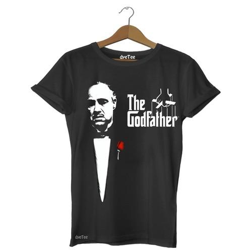 Dyetee The Godfather - Klasik Erkek T-Shirt