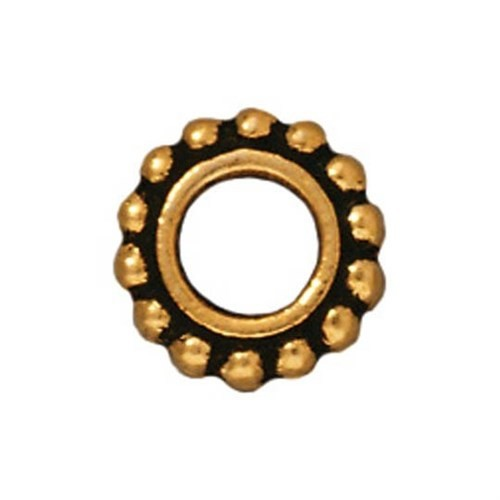 Tierra Cast 1 Adet 9X9 Mm Altın Rengi Yuvarlak Çerçeve Takı Ara Aksesuarı - 94-5652-26