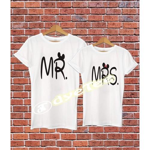 Dyetee Mr And Mrs İkiz + Soyisminiz T-Shirt