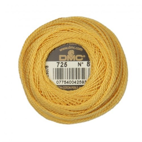 Dmc Koton Perle Yumak 10 Gr Sarı No:8 - 725