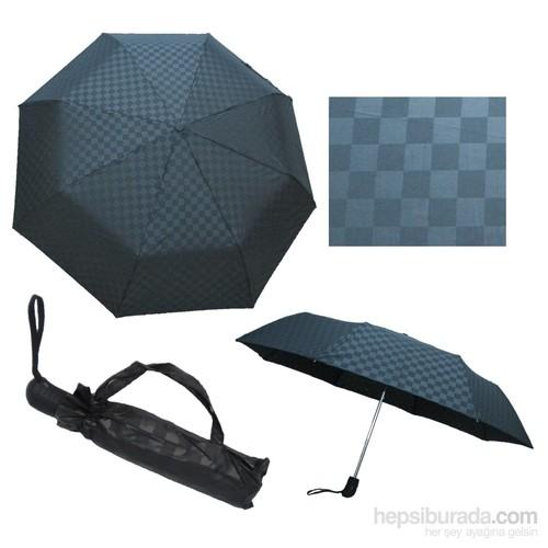 Zeus & Co. Siyah Kare Otomatik Rüzgara Dayanıklı Şemsiye