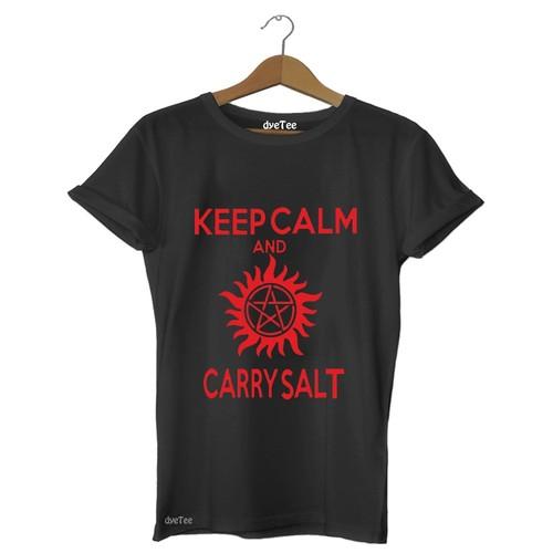 Dyetee Keep Calm Carry Salt Erkek T-Shirt