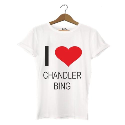 Dyetee I Love Chandler Erkek T-Shirt