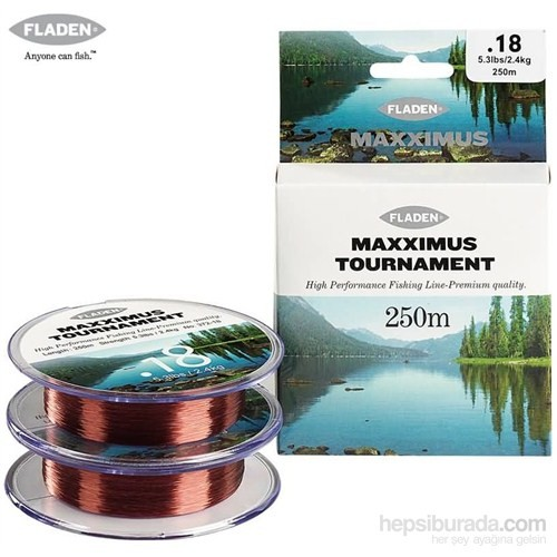 Fladen Maxxımus Tournament Bronz 250Mt. - 0,30Mm.