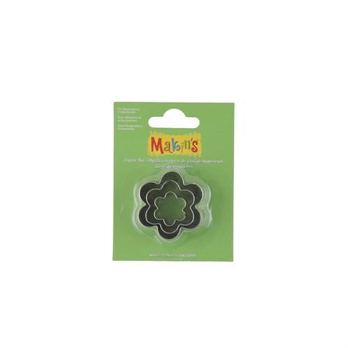 Makin's Clay Çiçek Şekilli 3'Lü Kesme Kalıbı