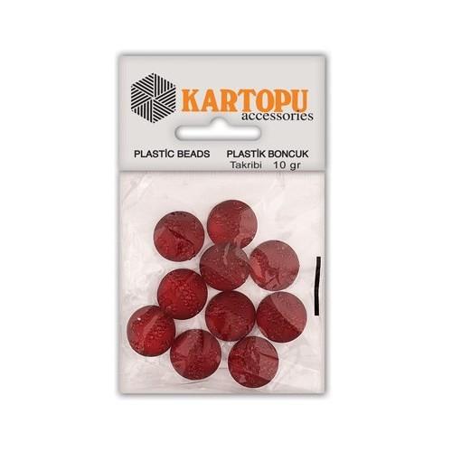 Kartopu Kırmızı Yuvarlak Resin Taşı Rt1