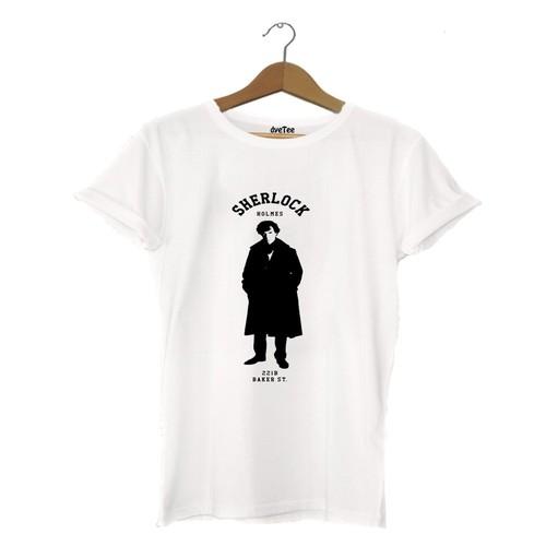 Dyetee Sherlock Baker Street Erkek T-Shirt