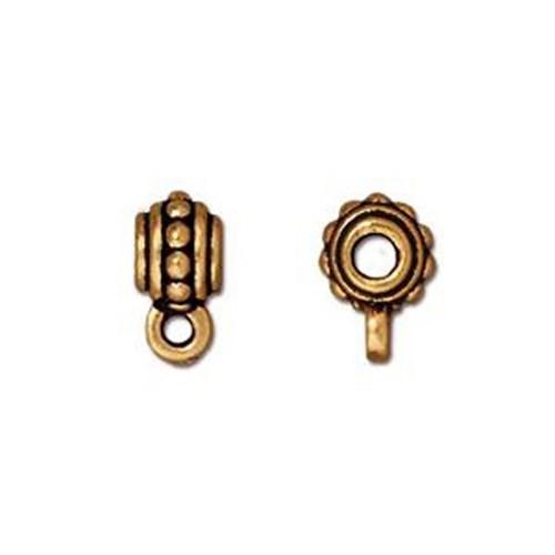 Tierra Cast Beaded 1 Adet 10X6.75 Mm Altın Rengi Takı Ucu Askı Aparatı - 94-5509-26