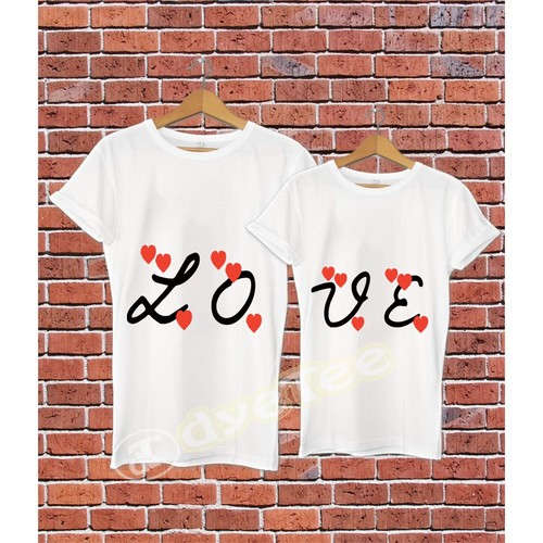 Dyetee Love İkiz T-Shirt