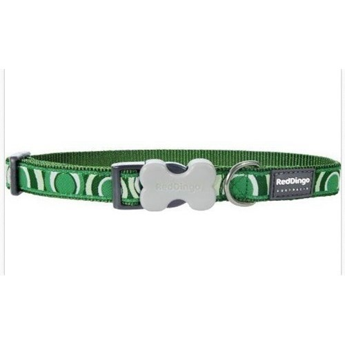 Reddingo Circadelic Desenli Yeşil Köpek Boyun Tasması 20 Mm