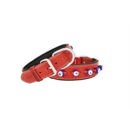 Doggie Comfort Nazar Boncuklu Deri Boyun Tasması 2,5X50 Cm Sbt-2523