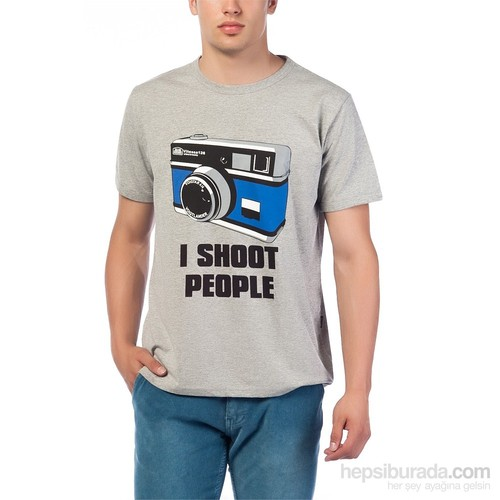 Köstebek I Shoot People Erkek T-Shirt