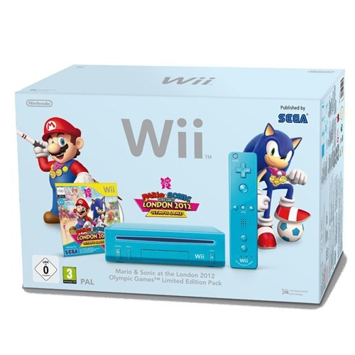 Nintendo Wii Konsol Blue -Mario Sonic London Olympics