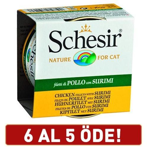 Schesir Tavuklu Ve Sürimili Yetişkin Kedi Konservesi 6 X 85 gr