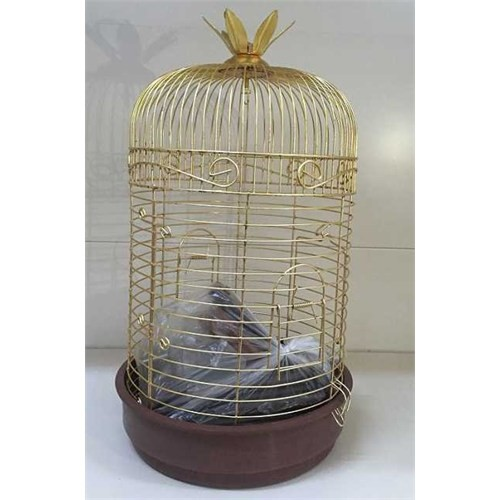 Silindir Pirinç Kuş Kafesi Küçük