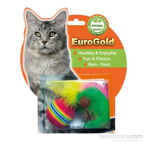 Eurogold Pastel Lif Fare & Tüylü Top 2'Li Kedi Oyuncağı
