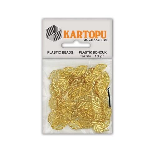 Kartopu Sarı Yaprak Süslü Taş - Et3