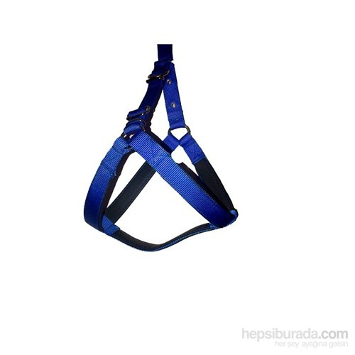 Pet Style Yumuşak Dokulu Köpek Göğüs Tasması Mavi No:1