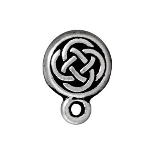 Tierra Cast 1 Adet Küçük Boy Gümüş Rengi Yuvarlak Takı Aksesuarı - 94-1070-12