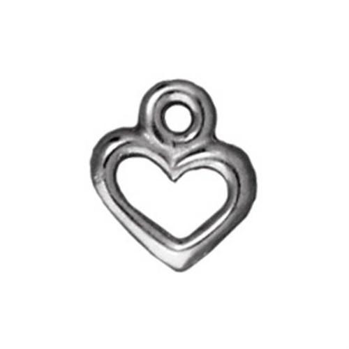 Tierra Cast 1 Adet 9.5X8.25 Mm Gümüş Rengi Kalp Takı Aksesuarı - 94-2095-61