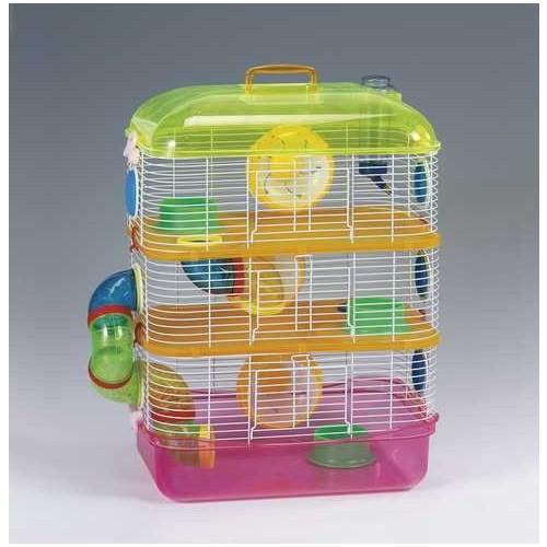 Qh Pet Cage Hamster Kafesi Üç Katlı 40X26x54