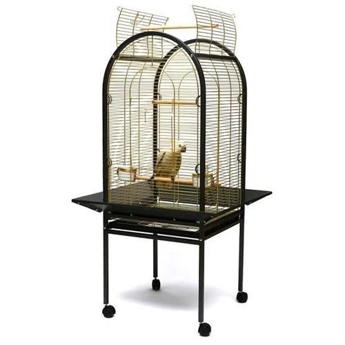 Ayaklı Papağan Kafesi Pirinç P100