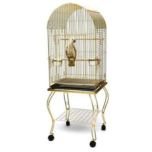 Ayaklı Papağan Kafesi Gri P912