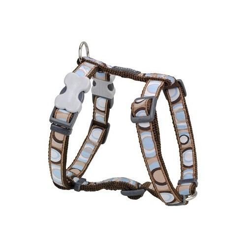 Reddingo Circadelic Desenli Kahverengi Köpek Göğüs Tasması 15 Mm