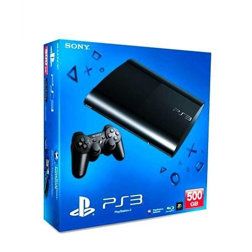 Sony Playstation 3 500 GB ( Süper Slim Kasa ) Konsol + 1 Kol + Gran Turismo 5 Oyunu+ Pes 2013 + Far Cry + Call Of Duty