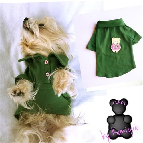 Teddy By Kemique Köpek Gömleği - Yeşil