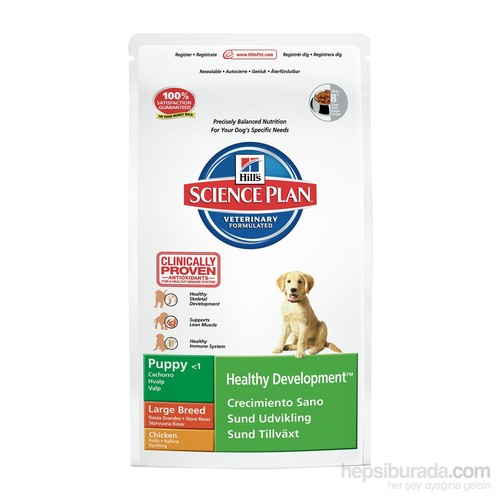 Hill's Science Plan Tavuklu Büyük Irk Yavru Köpek Maması 16 Kg (Puppy Healthy Development Large Breed with Chicken )