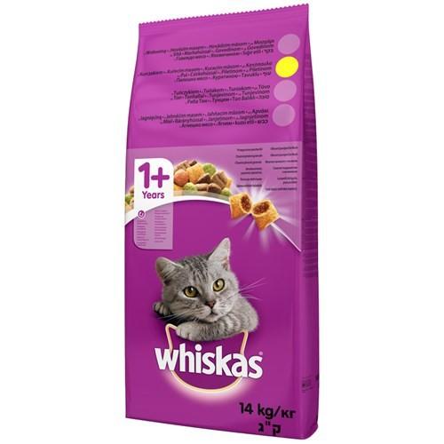 Whiskas Kuru Erişkin Tavuk&Sebze Kedi maması 14 kg