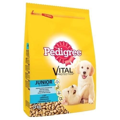Pedigree Kuru Yavru Kümes Hayvanı&Pirinç Kuru Köpek Maması 3 kg