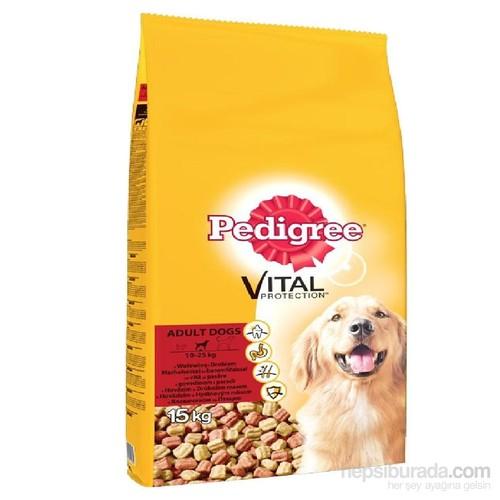 Pedigree Kuru Erişkin Biftek & Kümes Hayvanı Kuru Köpek Maması 15 kg gk